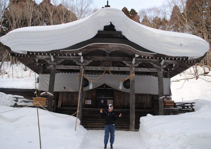 snow temple japan