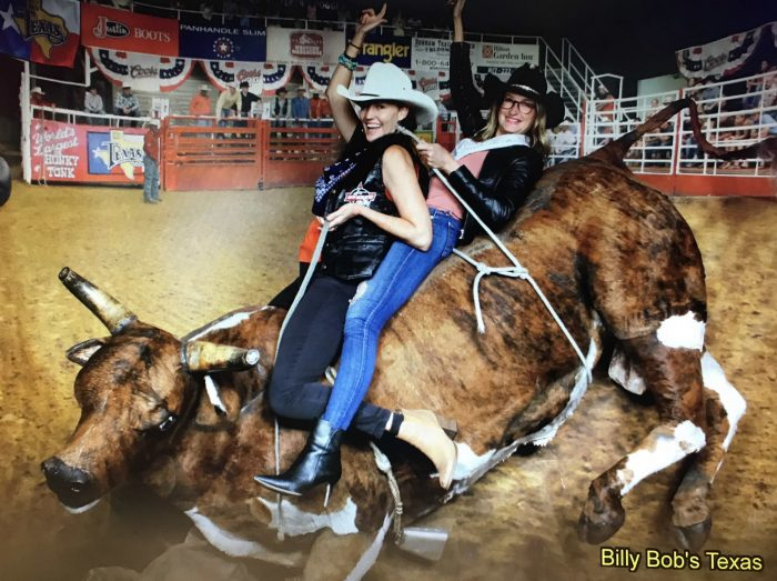 Ride a longhorn at Billy Bobs