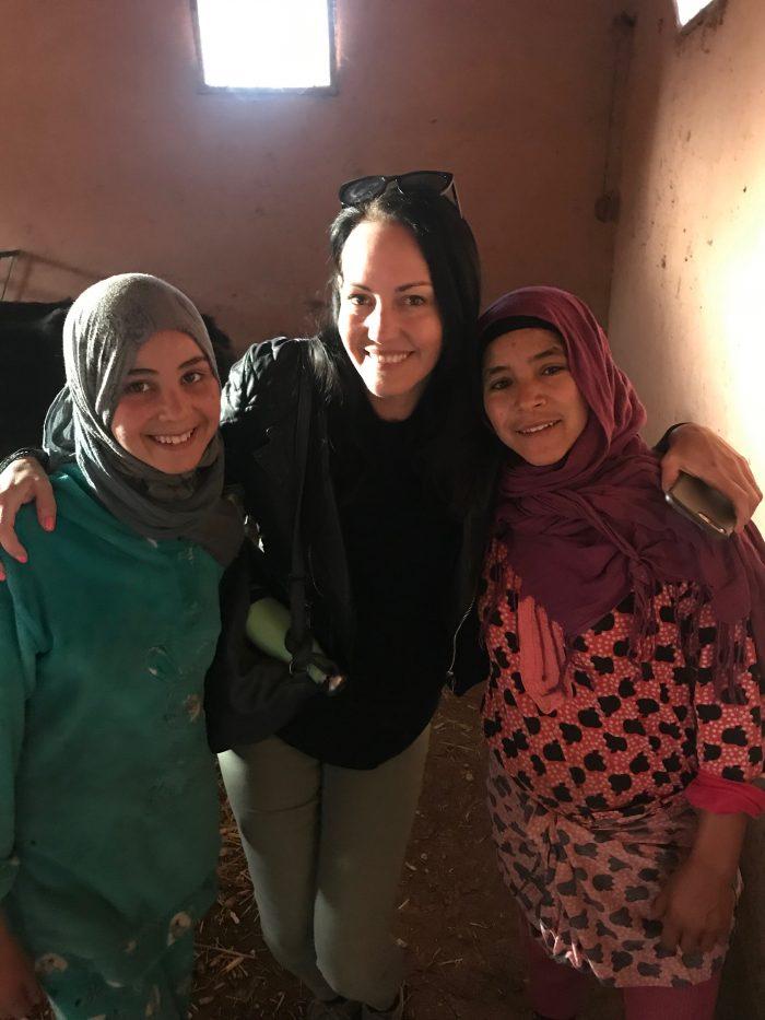 Village girls in Morocco