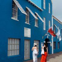 Walking the streets in Bermuda