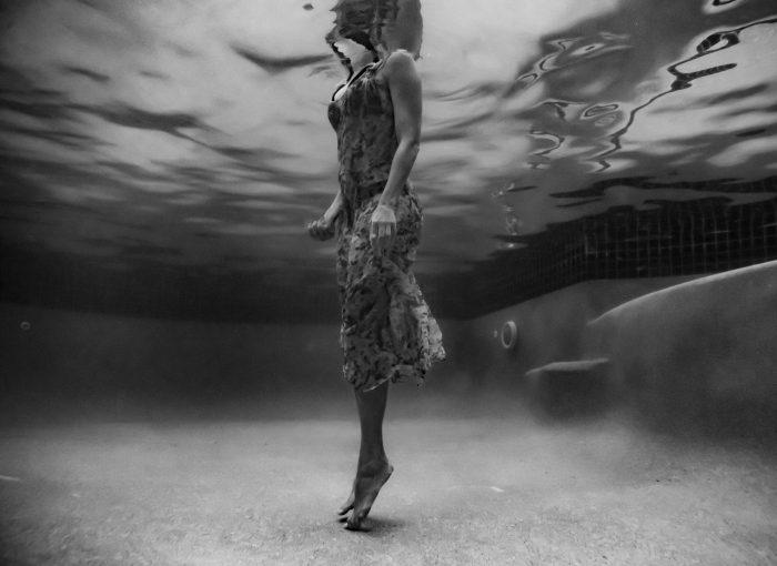 black and white underwater shoot